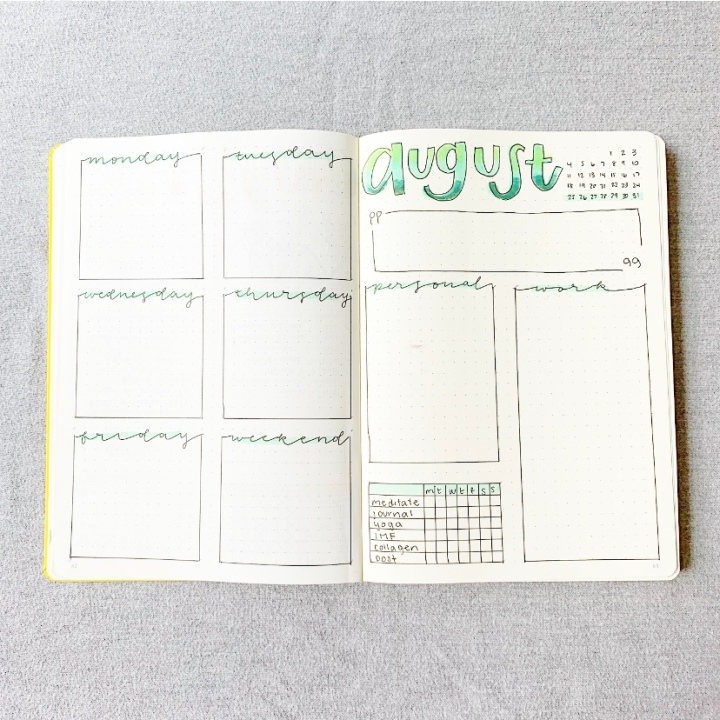 August Weekly Spread